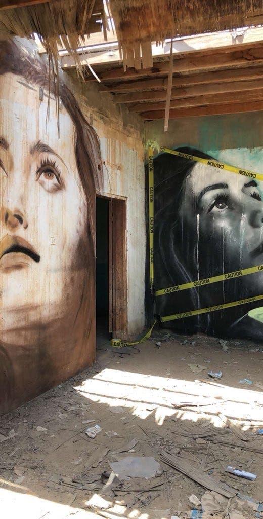 """شاهد الشهير بـ""""كلاخ"""" يحول منازل مهجورة إلى لوحات فنية"""