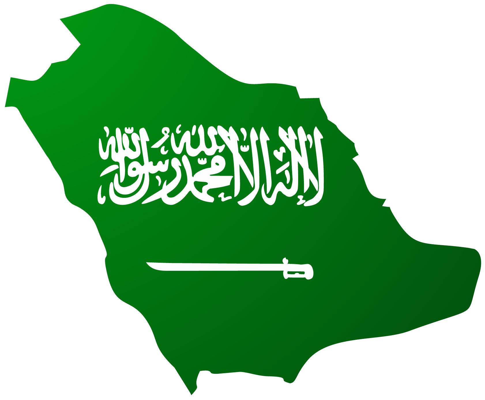 خريطة علم المملكة العربية السعودية