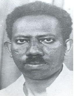 صورة إدريس محمد جماع شاعر سوداني لقب بالمجنون- قال (أبلغ بيت شعر غزلي).