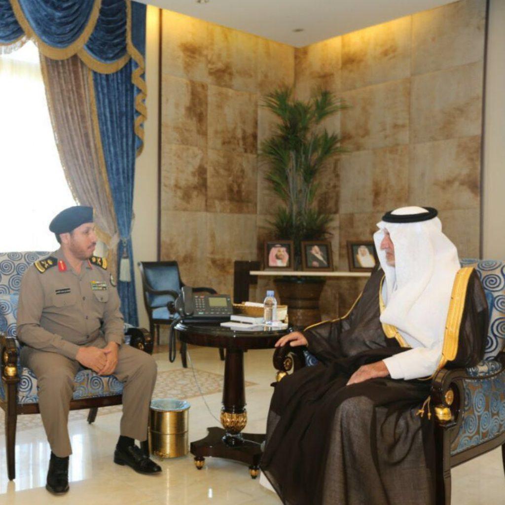 صورة أمير مكة يستقبل اللواء الغامدي