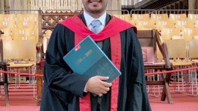 صورة المهندس مشرف الغامدي يحصد الماجستير مع مرتبة الشرف في الهندسة المعمارية