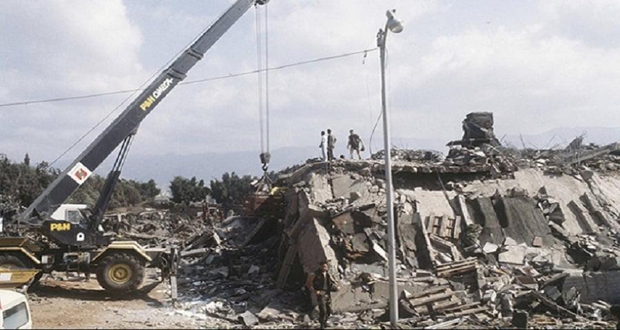 نتيجة بحث الصور عن ارهاب ايران تفجير المارننز في بيروت