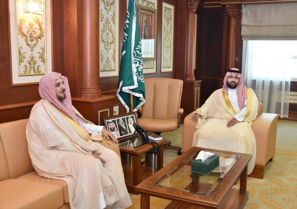 نائب أمير منطقة جازان يستقبل رئيس فرع النيابة العامة المعين بالمنطقة