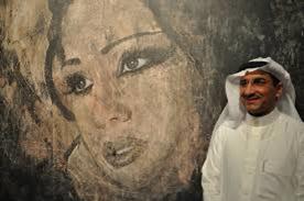 صورة الفنان التشكيلى. أحمد حسين الغامدى من أبرز الفنانين العرب. ويعد عالمي بمجاله.
