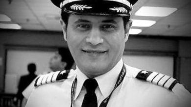 صورة كابتن طيار/ محمد آل شيبان الغامدي. قائد لطائرة الجامبو 8-747 الخطوط السعودية